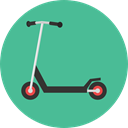 Fun, childhood, Scooter, transportation, transport CadetBlue icon