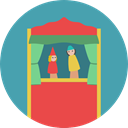show, Curtains, entertainment, stage, puppet, Puppets, Puppet Show CadetBlue icon