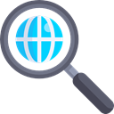 global, magnifying glass, search engine, Seo And Web, worldwide, Loupe, Tools And Utensils Black icon