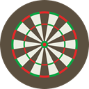 sniper, weapons, Dart Board, Sports And Competition, Aim, Target, sports, dart, shooting DarkOliveGreen icon