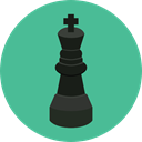 king, Chess Piece, Sports And Competition, chess, strategy, sport CadetBlue icon