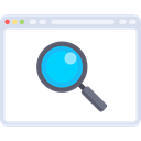 Browser, Multimedia, search, magnifying glass, website, Loupe, Seo And Web Black icon