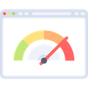 Browser, Multimedia, Measuring, Seo And Web, speedometer, website, velocity Black icon