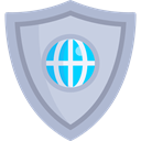 security, Protection, shield, weapons, defense, Seo And Web LightSteelBlue icon