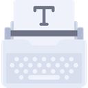 Copy, typewriter, writing, sheet, Tools And Utensils, Seo And Web AliceBlue icon