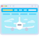 Browser, Multimedia, Plane, Aeroplane, website, airplane, web page, Seo And Web PaleTurquoise icon
