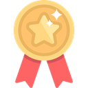 Certification, Seo And Web, medal, winner, Quality, award SandyBrown icon
