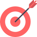 Arrow, Target, Archery, targeting, weapons, Dart Board, Seo And Web Tomato icon