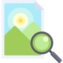 magnifying glass, zoom, Loupe, Seo And Web, Multimedia, image, search DarkKhaki icon