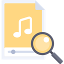 Multimedia, music, search, magnifying glass, zoom, Loupe, Seo And Web Khaki icon