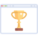 ranking, Seo And Web, Browser, cup, trophy Black icon