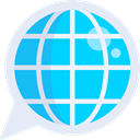 languages, Earth Grid, Worlwide, World Grid, Seo And Web, planet, Multimedia, translation, global DeepSkyBlue icon