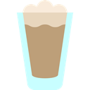 food, glass, Cold, frappe, Coffee Shop RosyBrown icon