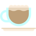 Coffee, food, latte, coffee cup, hot drink, Coffee Shop Black icon