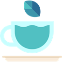Coffee Shop, Tea Cup, food, infusion, hot drink, kitchenware MediumTurquoise icon