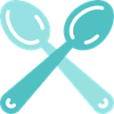 Restaurant, kitchen, Cutlery, silverware, Tools And Utensils, Spoons MediumTurquoise icon
