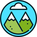 nature, mountain, rural, Peaks, Geology Turquoise icon