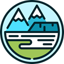 mountain, Tundra, nature Icon