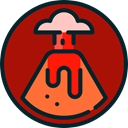natural, volcano, Erupting, Eruption, nature, danger, Disaster Firebrick icon