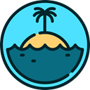 tropical, nature, Sunny, landscape, Island, summer Turquoise icon