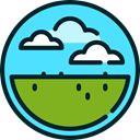 prairie, Clouds, nature, landscape Turquoise icon
