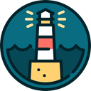 Lighthouse, Guide, buildings, light, navigation, nature Teal icon