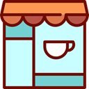 Business, store, Building, Shop, Coffee Shop LightCyan icon