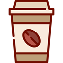 Coffee, food, hot drink, Coffee Shop, Take Away, Paper Cup AntiqueWhite icon