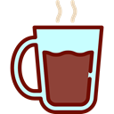 Coffee, tea, food, coffee cup, hot drink, Coffee Shop Black icon