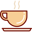 Coffee, tea, food, coffee cup, hot drink, Coffee Shop Khaki icon