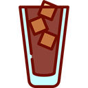 Iced Coffee, food, glass, Cold Drink, Coffee Shop Black icon