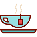 food, infusion, hot drink, kitchenware, Coffee Shop, Tea Cup Black icon