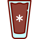 food, glass, Cold Drink, Coffee Shop, Iced Coffee Sienna icon