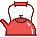 tea, kettle, hot drink, kitchenware, Tools And Utensils, Coffee Pot Tomato icon