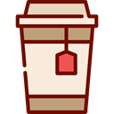 infusion, hot drink, Coffee Shop, Take Away, Paper Cup, Coffee, tea, food AntiqueWhite icon