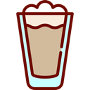 food, glass, Cold, frappe, Coffee Shop Black icon