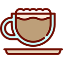 Coffee, food, latte, coffee cup, hot drink, Coffee Shop Maroon icon