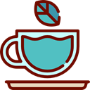 food, infusion, hot drink, kitchenware, Coffee Shop, Tea Cup Maroon icon