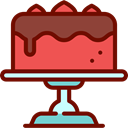 cake, food, Dessert, sweet, Bakery, baker Maroon icon