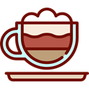 Coffee, food, coffee cup, hot drink, Coffee Shop, Mocha Maroon icon