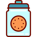 Dessert, cookies, sweet, Bakery, Jar, food LightCyan icon