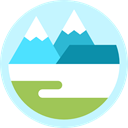 nature, mountain, Tundra PaleTurquoise icon