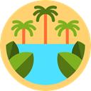 nature, landscape, jungle, Palm Tree Khaki icon