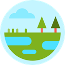 nature, Wetland, trees, Aquatic, Vegetation PaleTurquoise icon