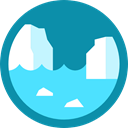 nature, polar, glacier, north pole DarkCyan icon