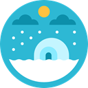 Snow, nature, landscape, polar, north pole MediumTurquoise icon