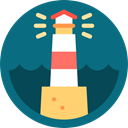 light, navigation, nature, Lighthouse, Guide, buildings Teal icon