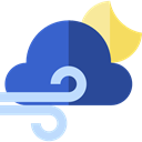 weather, wind, windy, meteorology, Bad Weather DarkSlateBlue icon