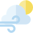 weather, wind, windy, meteorology, Bad Weather Lavender icon