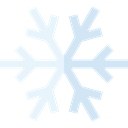 Cold, snowflake, weather, Snow, nature, winter Black icon